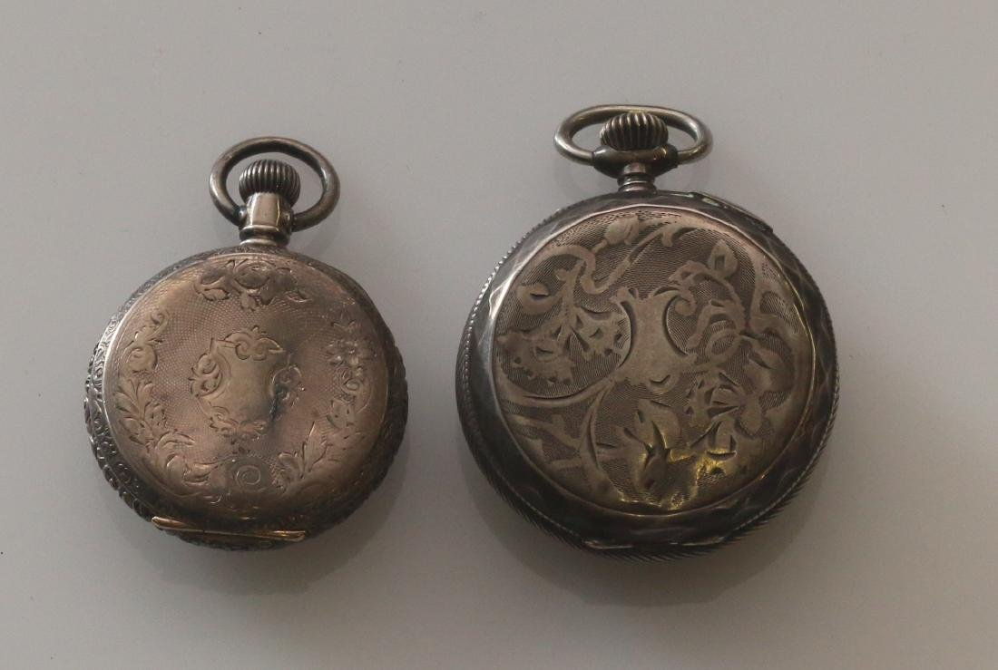 (2) SILVER POCKET WATCHES - 2