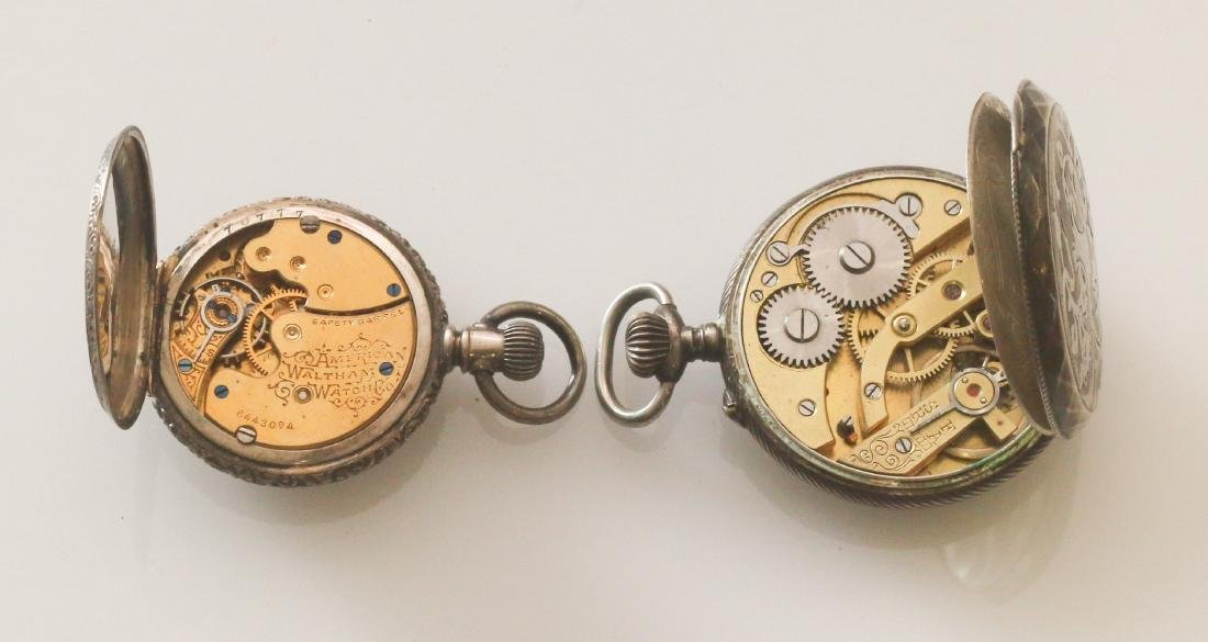 (2) SILVER POCKET WATCHES - 3