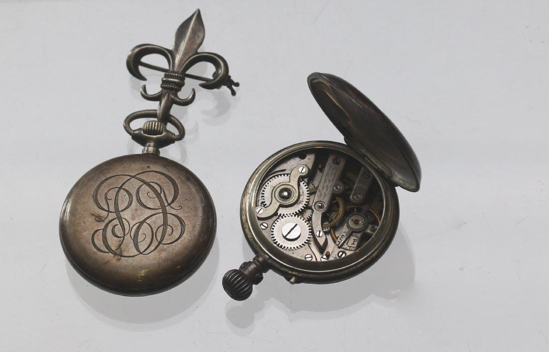 (2) LADIES SILVER POCKET WATCHES - 3