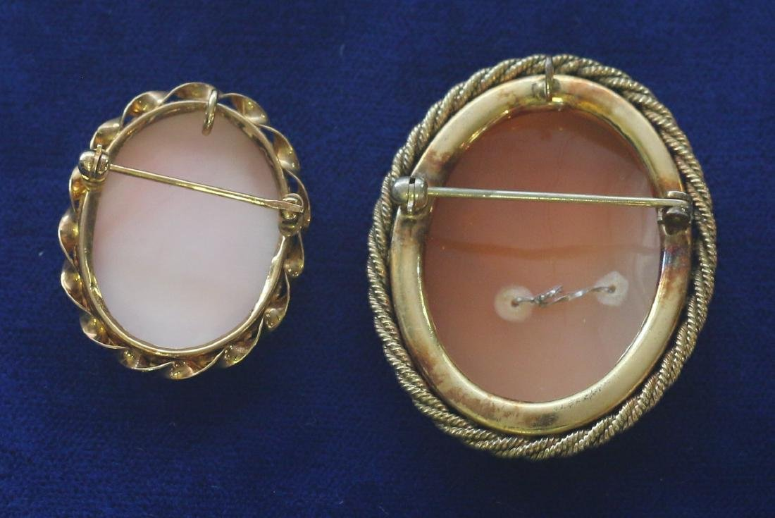 (2) CARVED SHELL CAMEO'S - 2