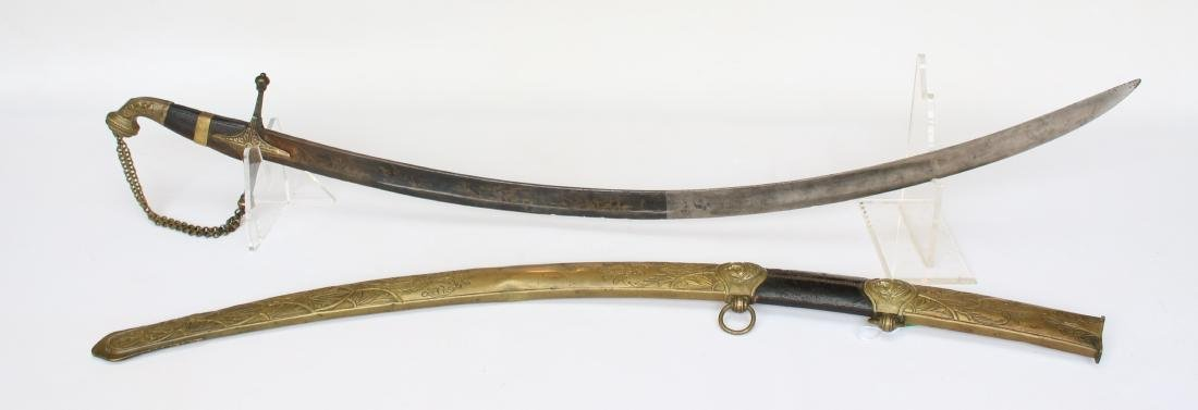 EARLY 19TH CENTURY SCIMITAR TYPE SWORD