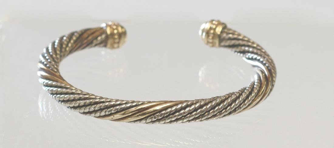 14K AND STERLING CUFF