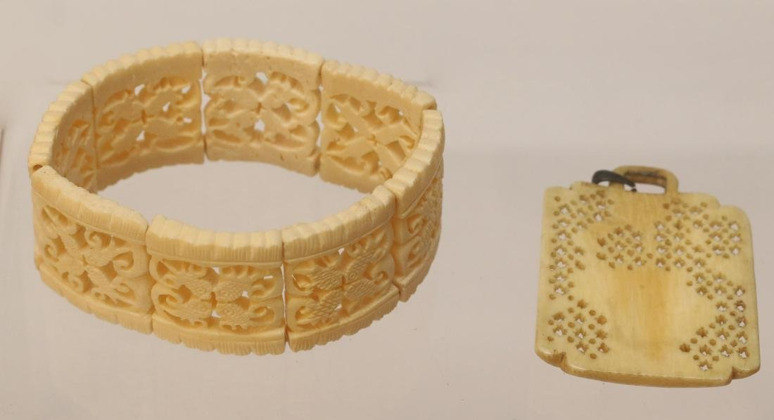 CARVED BONE ITEMS - 2