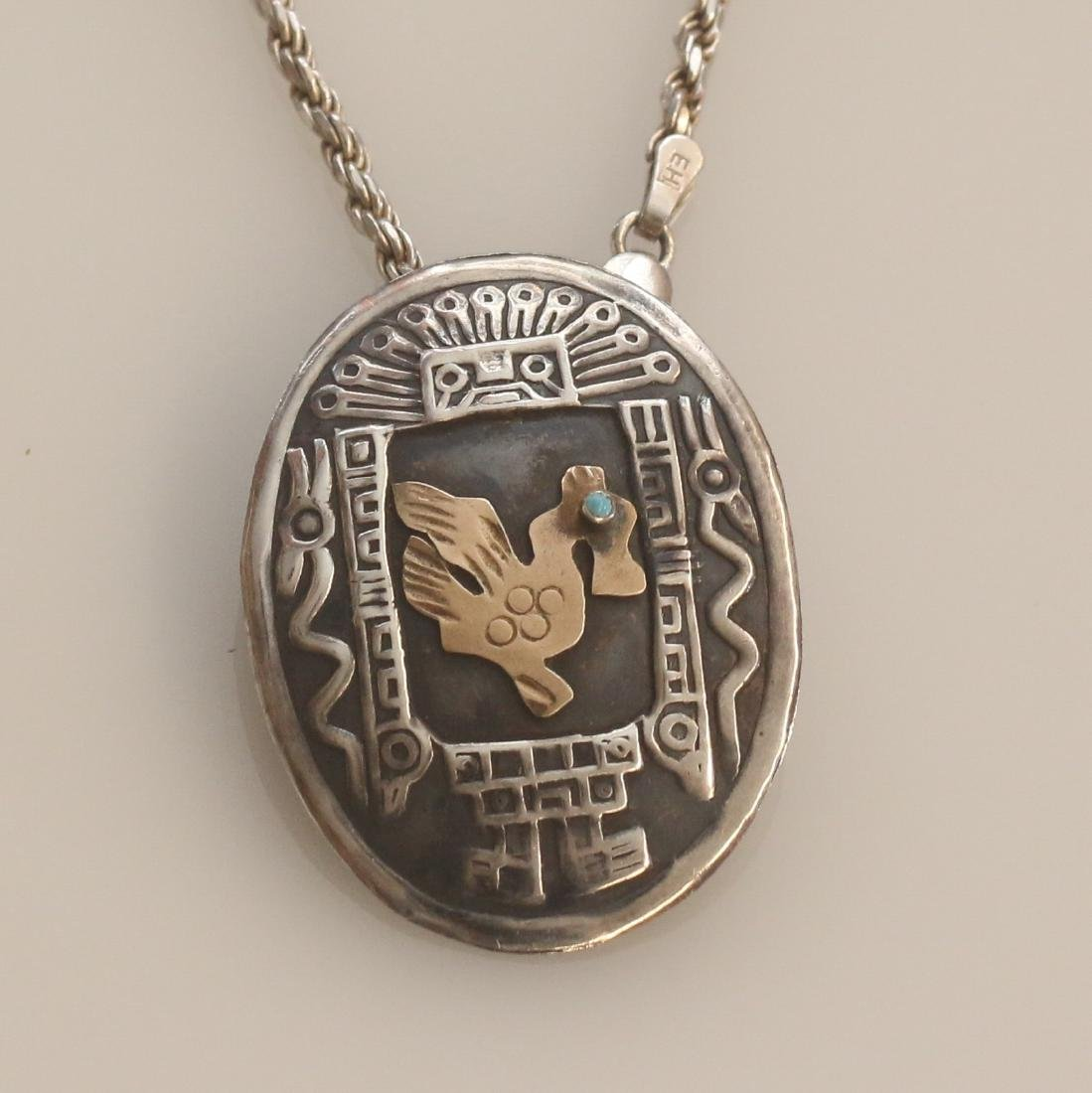 STERLING MEXICO PENDANT - 2