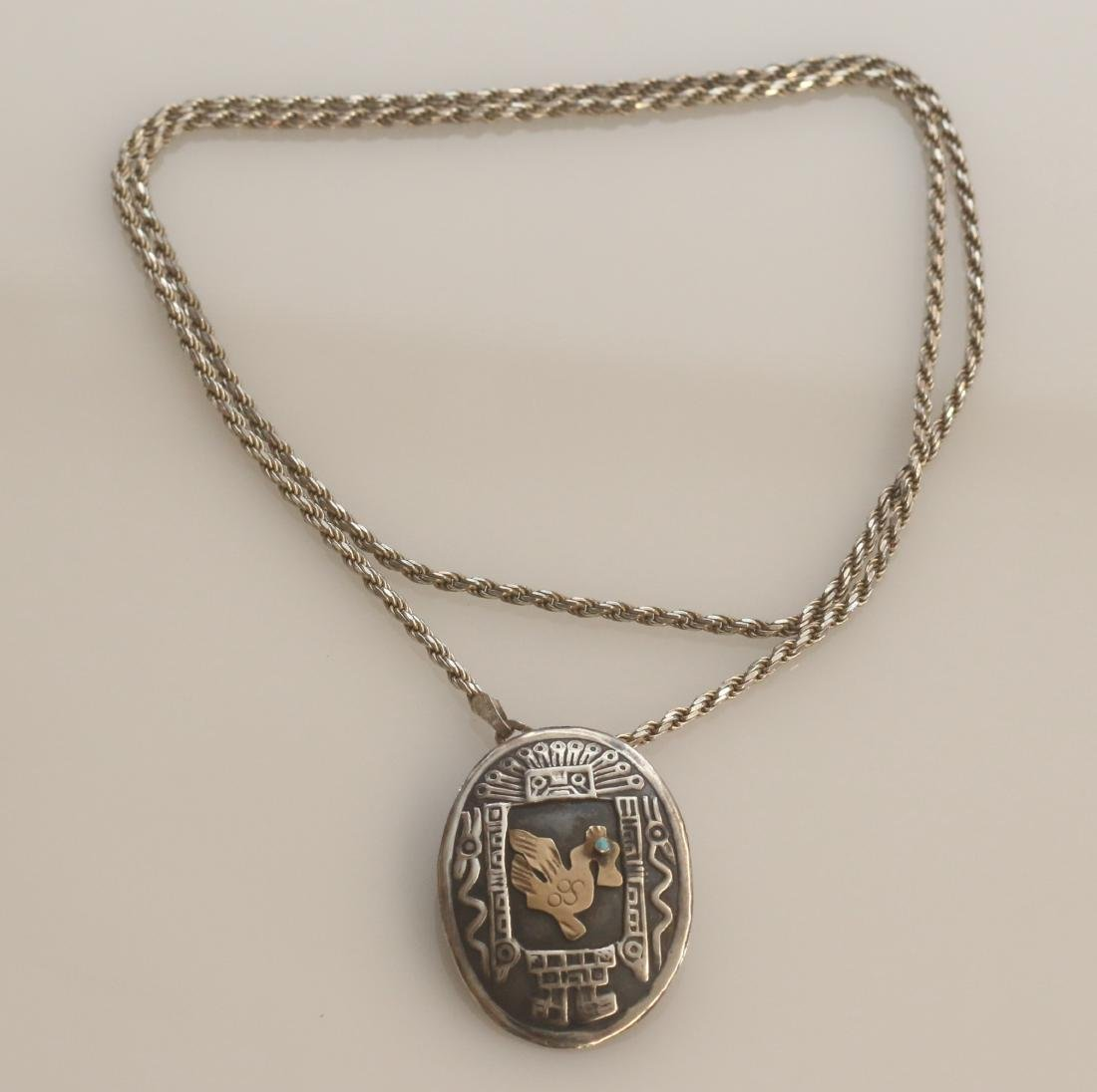 STERLING MEXICO PENDANT - 3