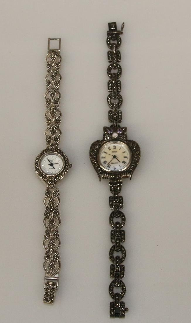 (2) STERLING WRIST WATCHES