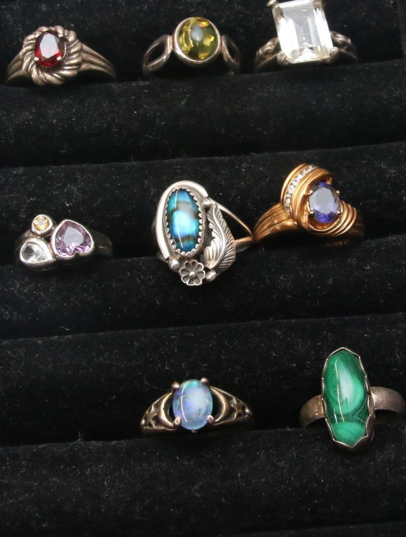 (8) STERLING RINGS