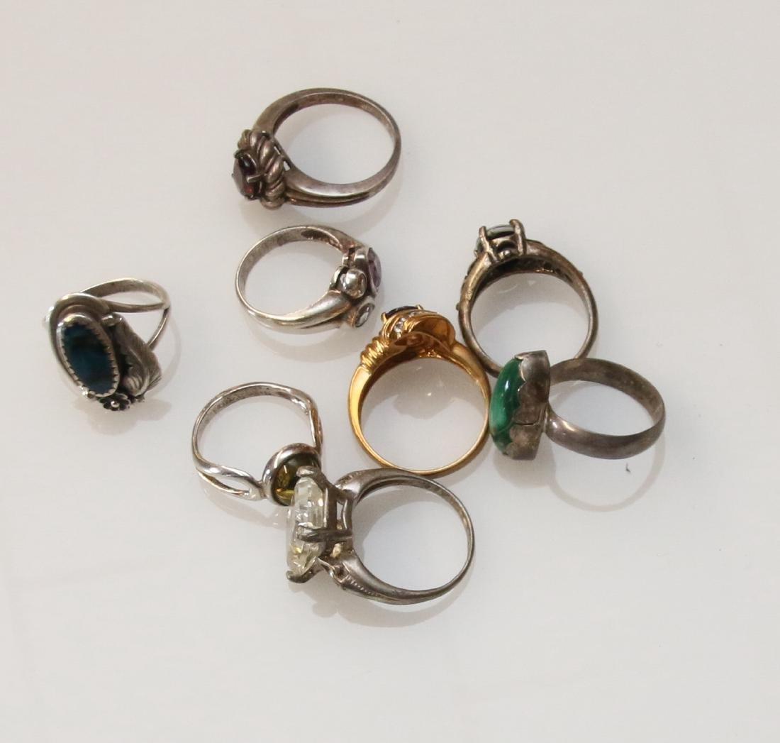 (8) STERLING RINGS - 2