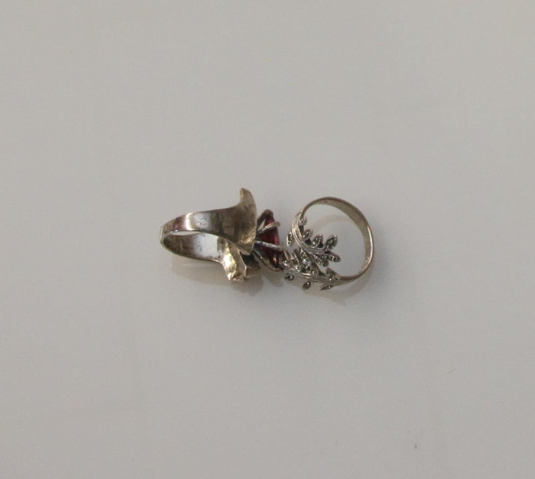 STERLING AND MARCASITE RINGS - 2