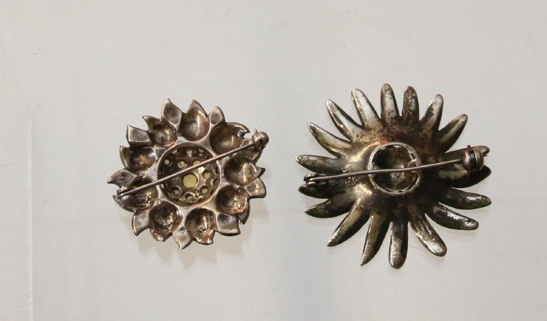 (2) STERLING AND MARCASITE  BROOCHES - 2