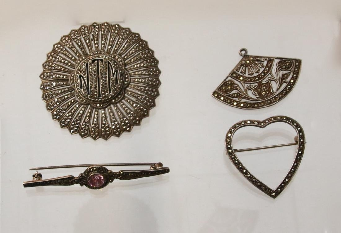 (4) STERLING AND MARCASITE  ITEMS