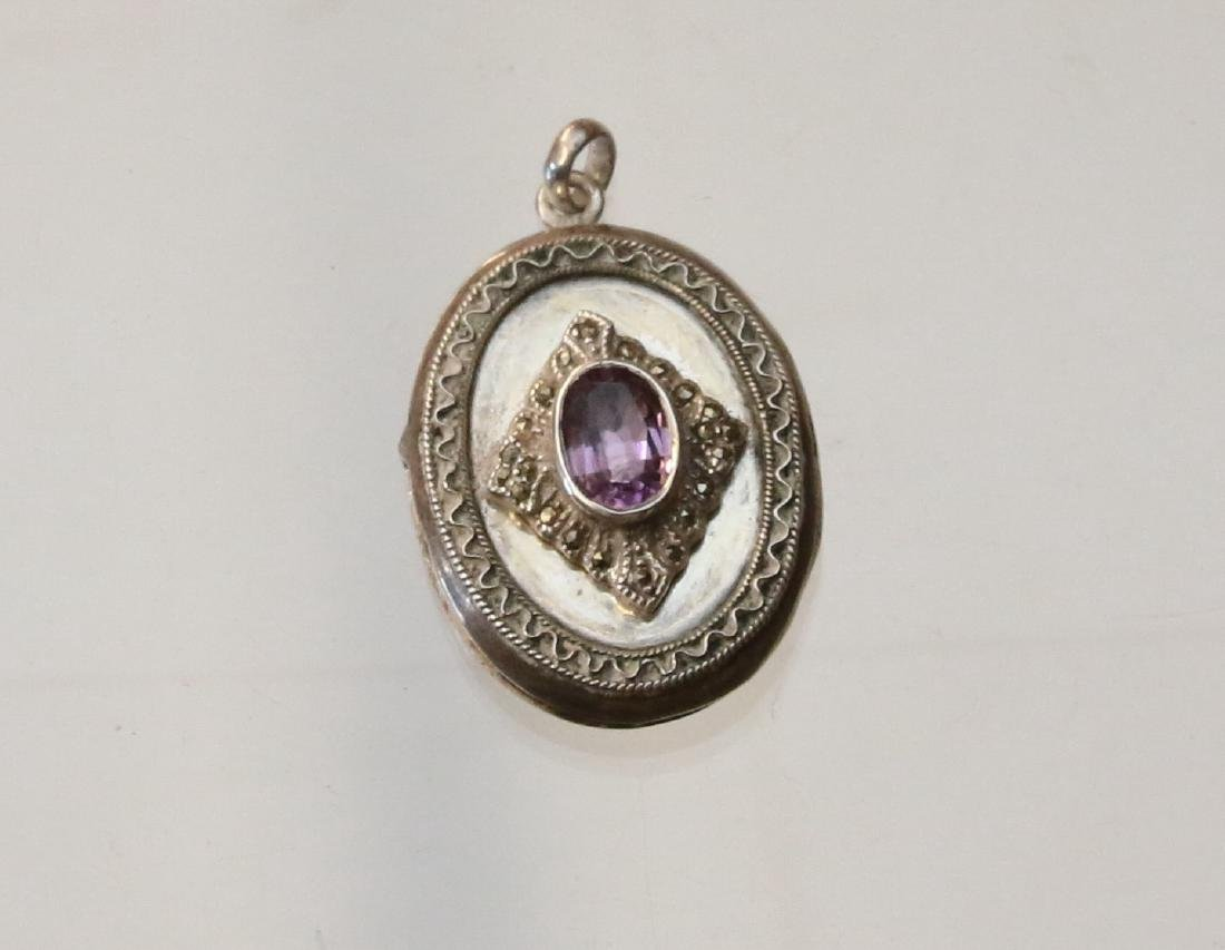 STERLING AND MARCASITE  LOCKET