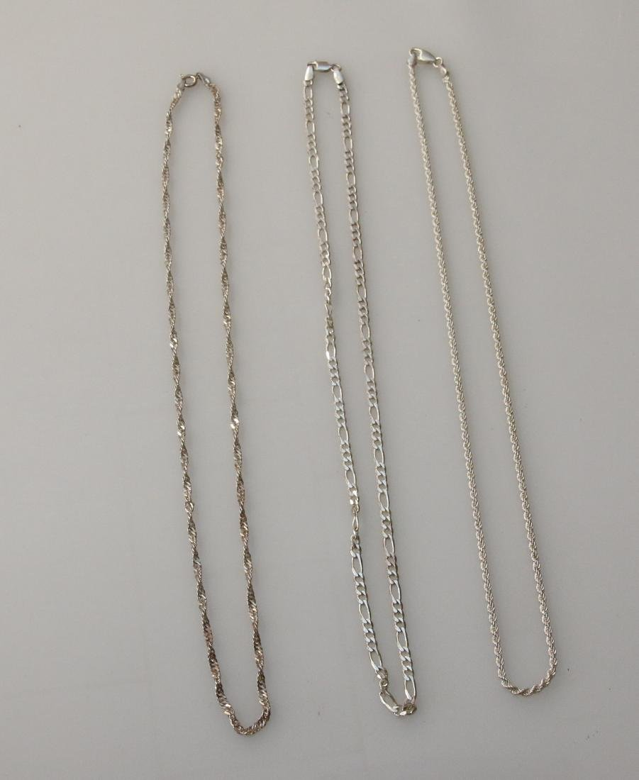 (3) STERLING CHAINS