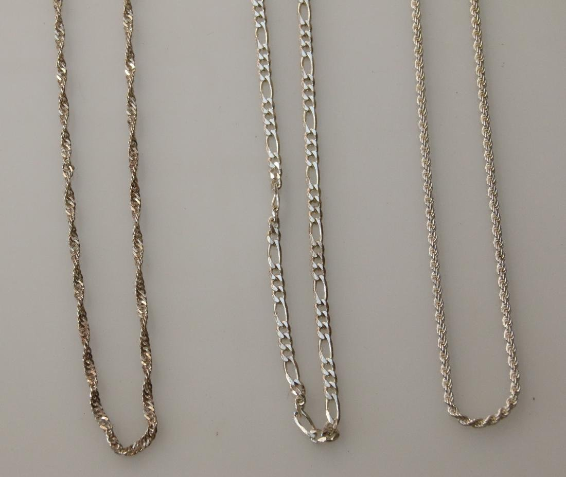 (3) STERLING CHAINS - 2