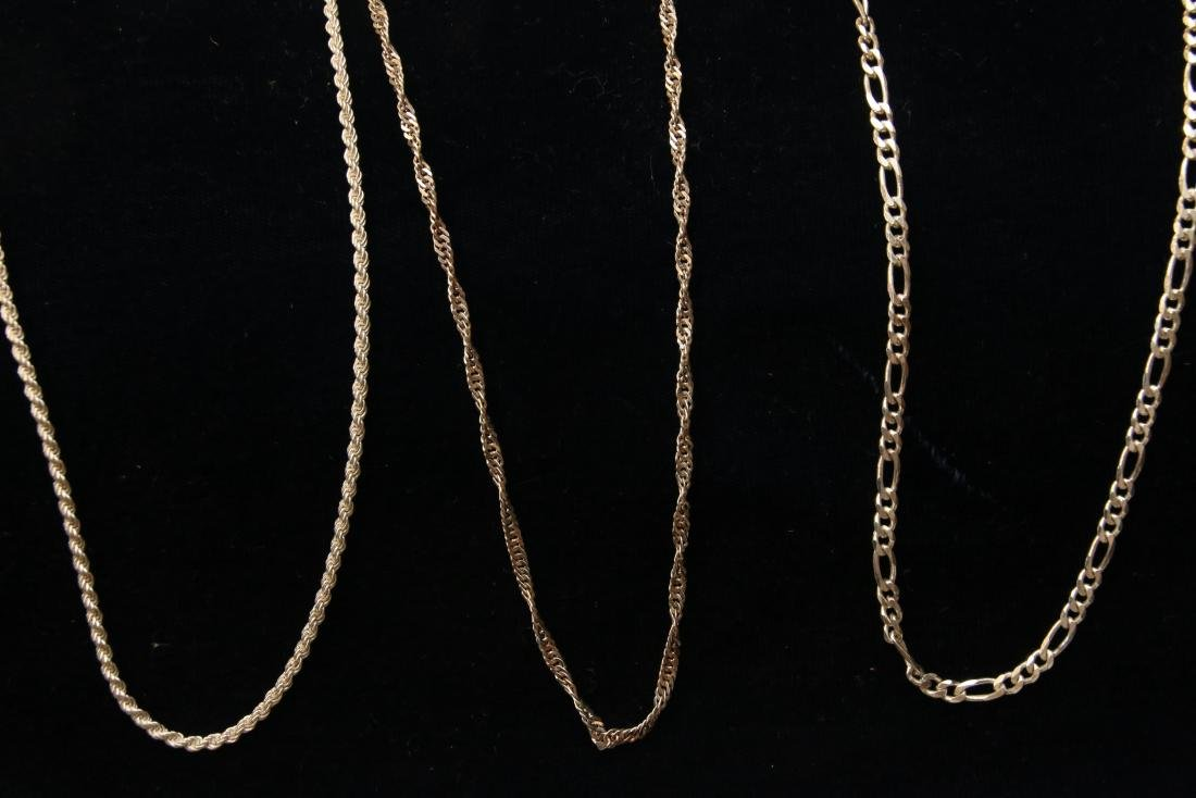 (3) STERLING CHAINS - 3