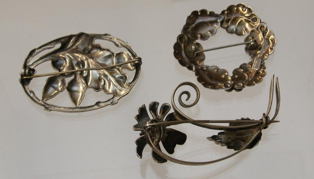 (3) STERLING BROOCH'S - 2