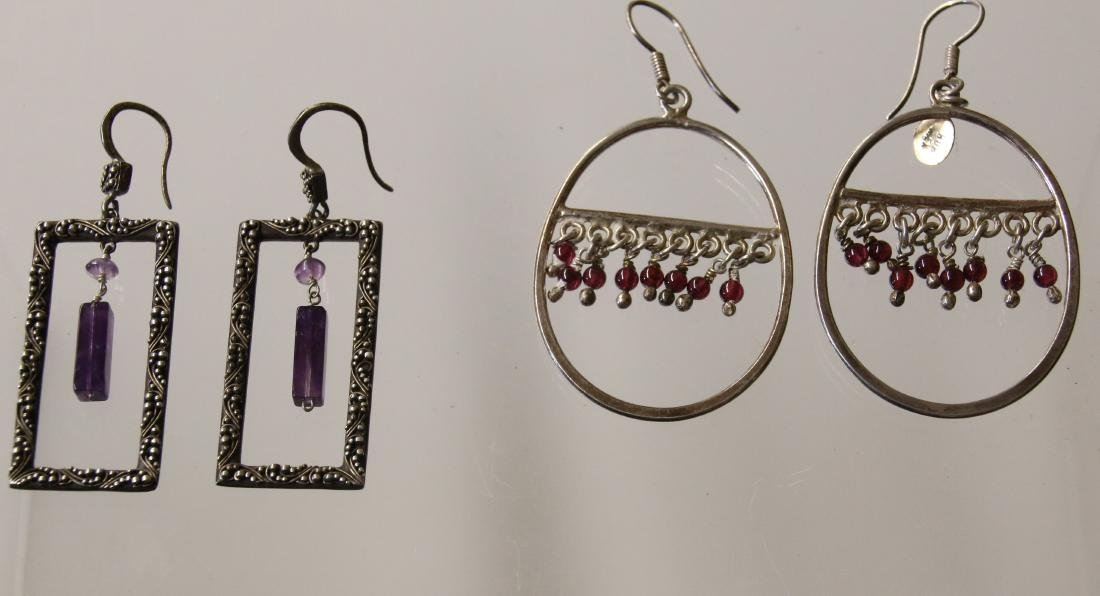 (2) PAIR OF STERLING EARRINGS