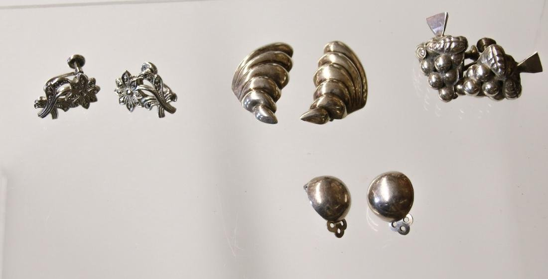 (4) PAIR OF STERLING EARRINGS