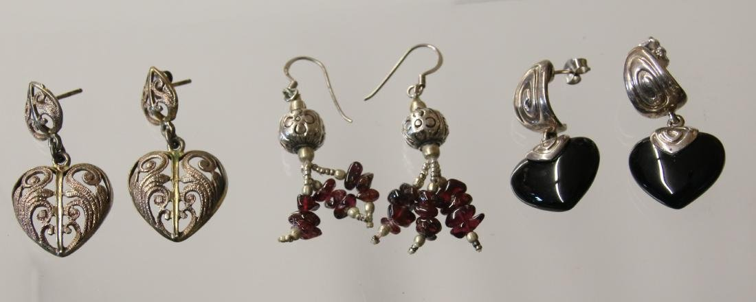 (3) PAIR OF STERLING EARRINGS