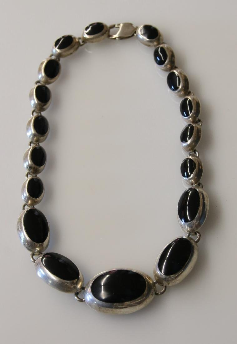 STERLING AND ONYX NECKLACE