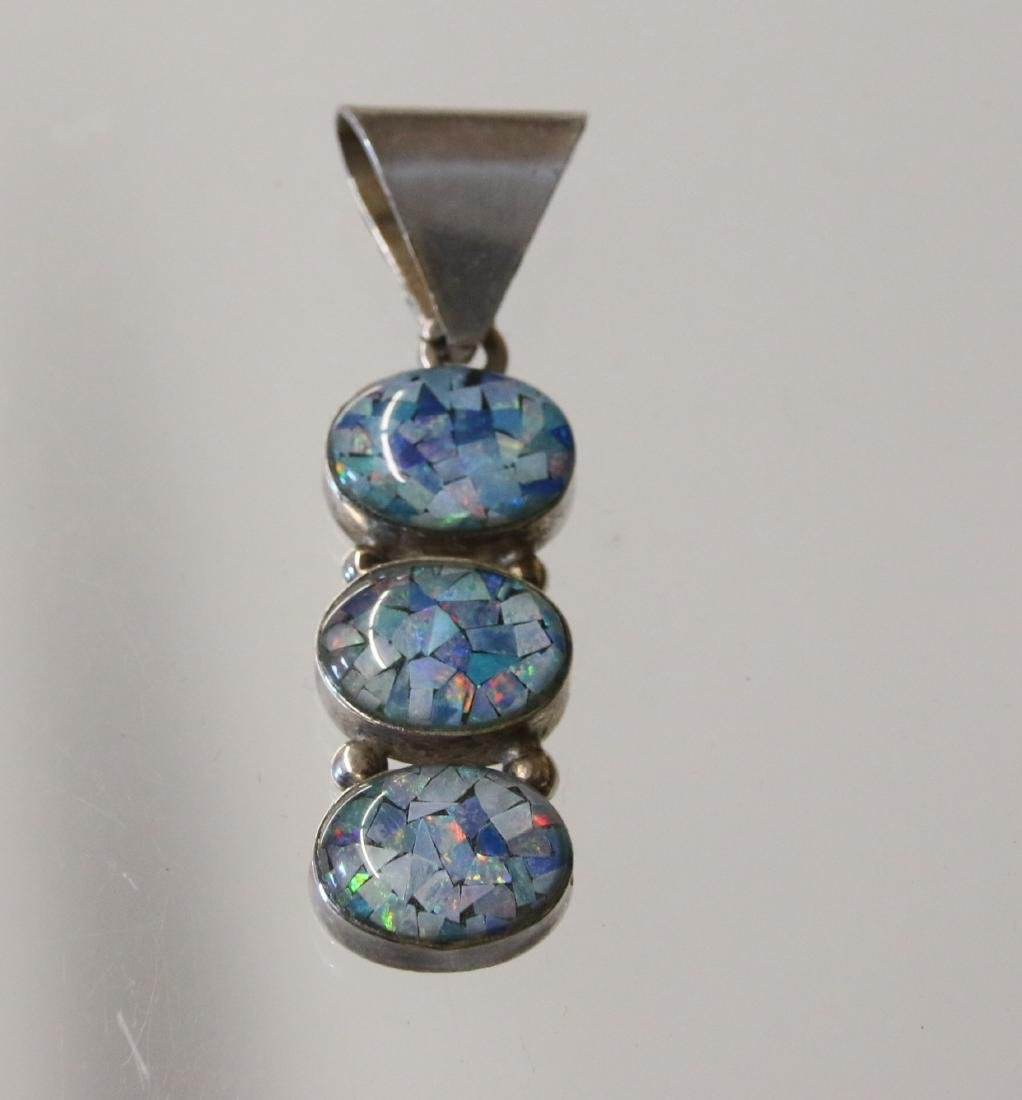 STERLING OPAL AND PENDANT