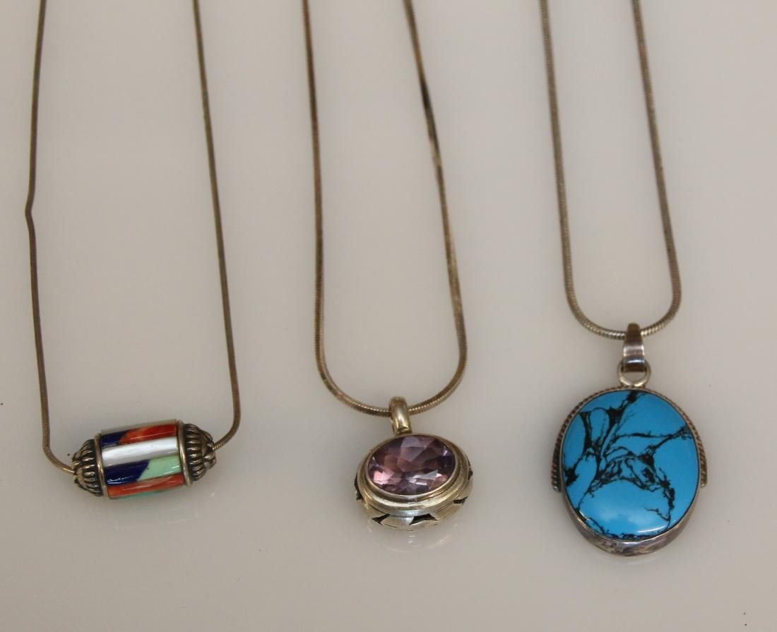 (3) STERLING NECKLACES