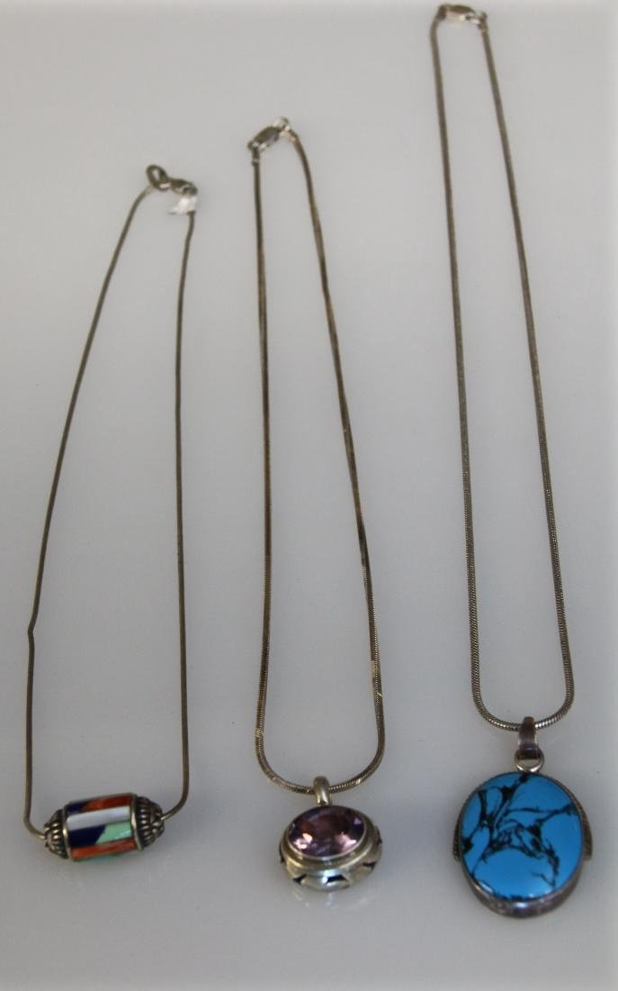 (3) STERLING NECKLACES - 2