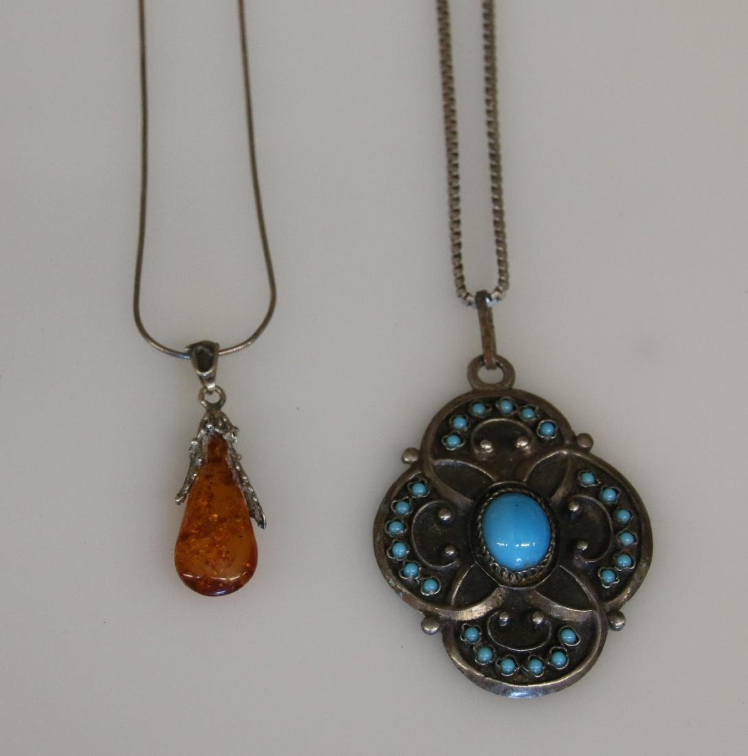(2) STERLING NECKLACES