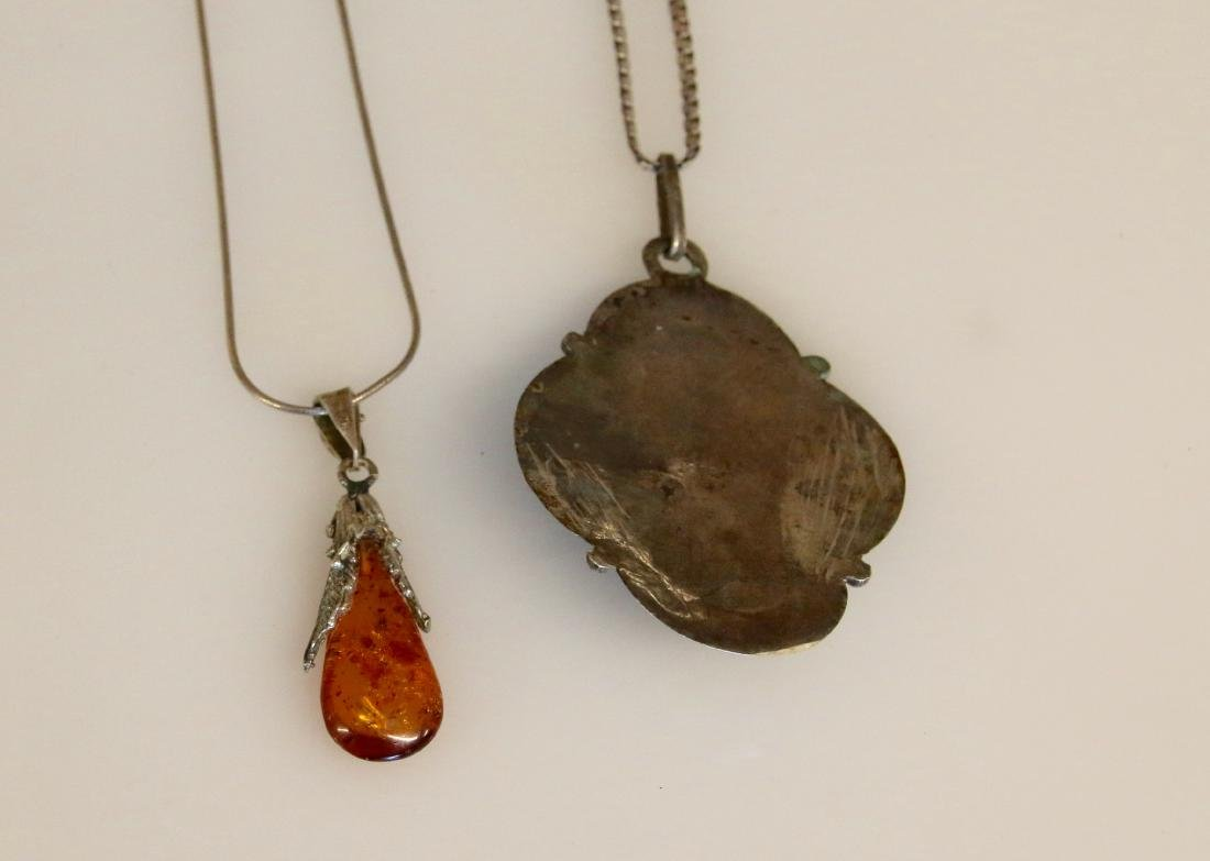 (2) STERLING NECKLACES - 2