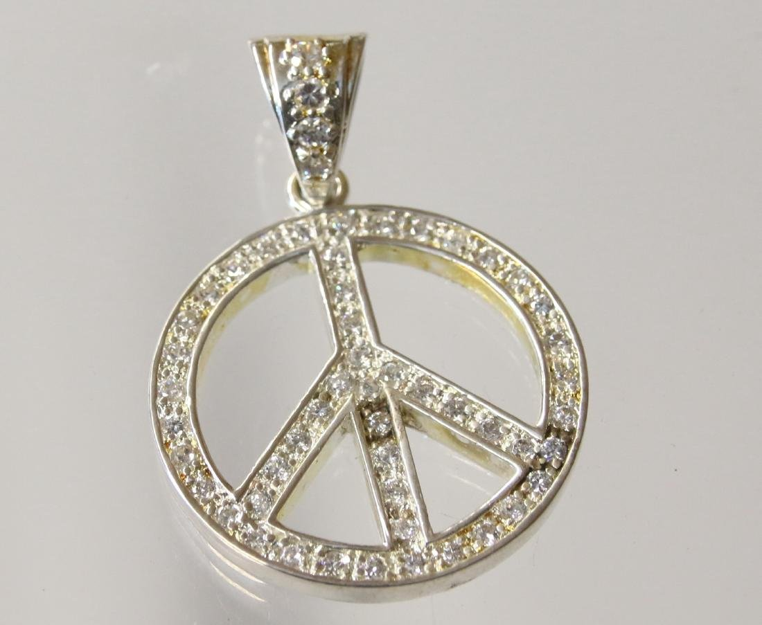 STERLING PEACE PENDANT