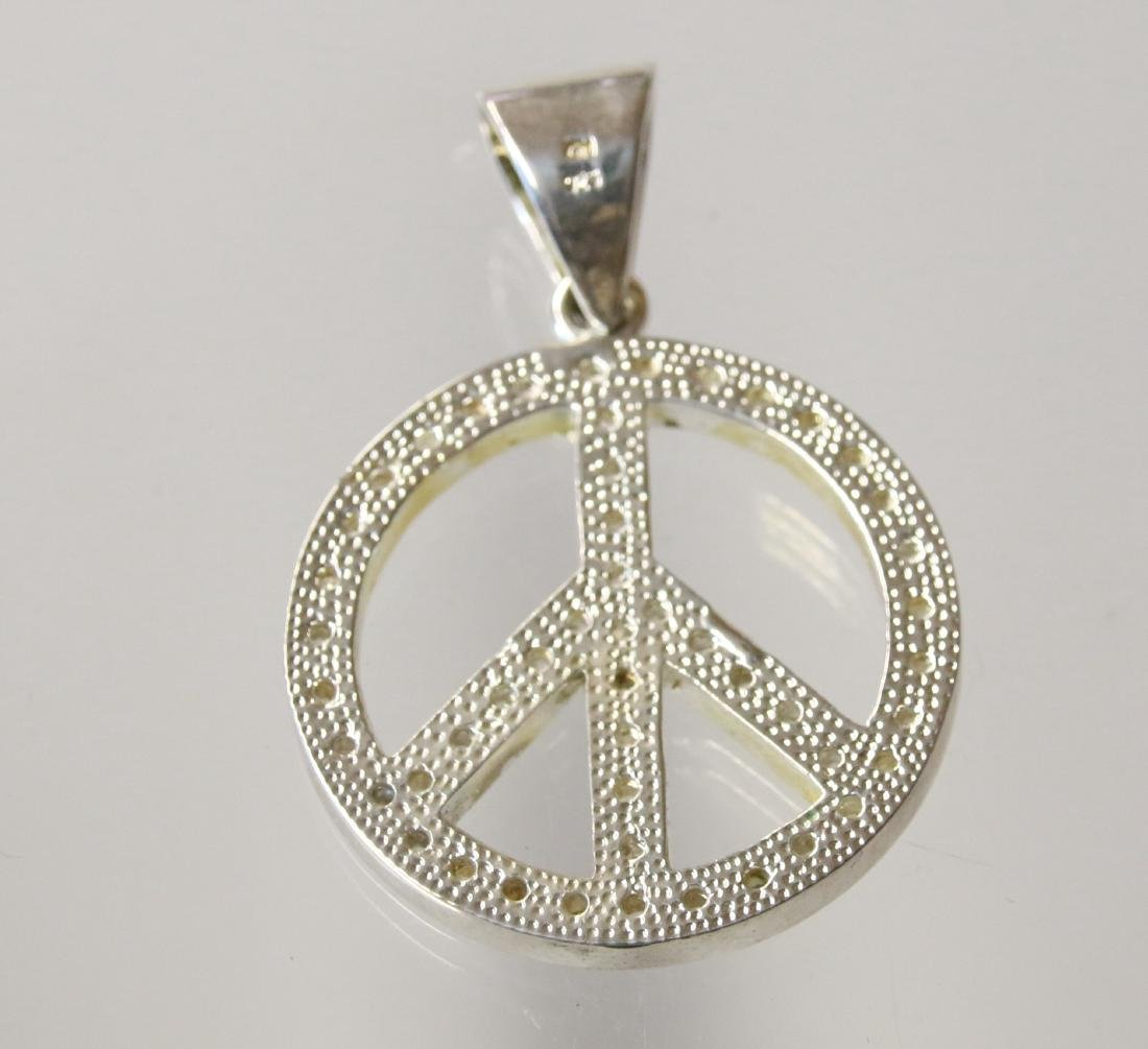 STERLING PEACE PENDANT - 2