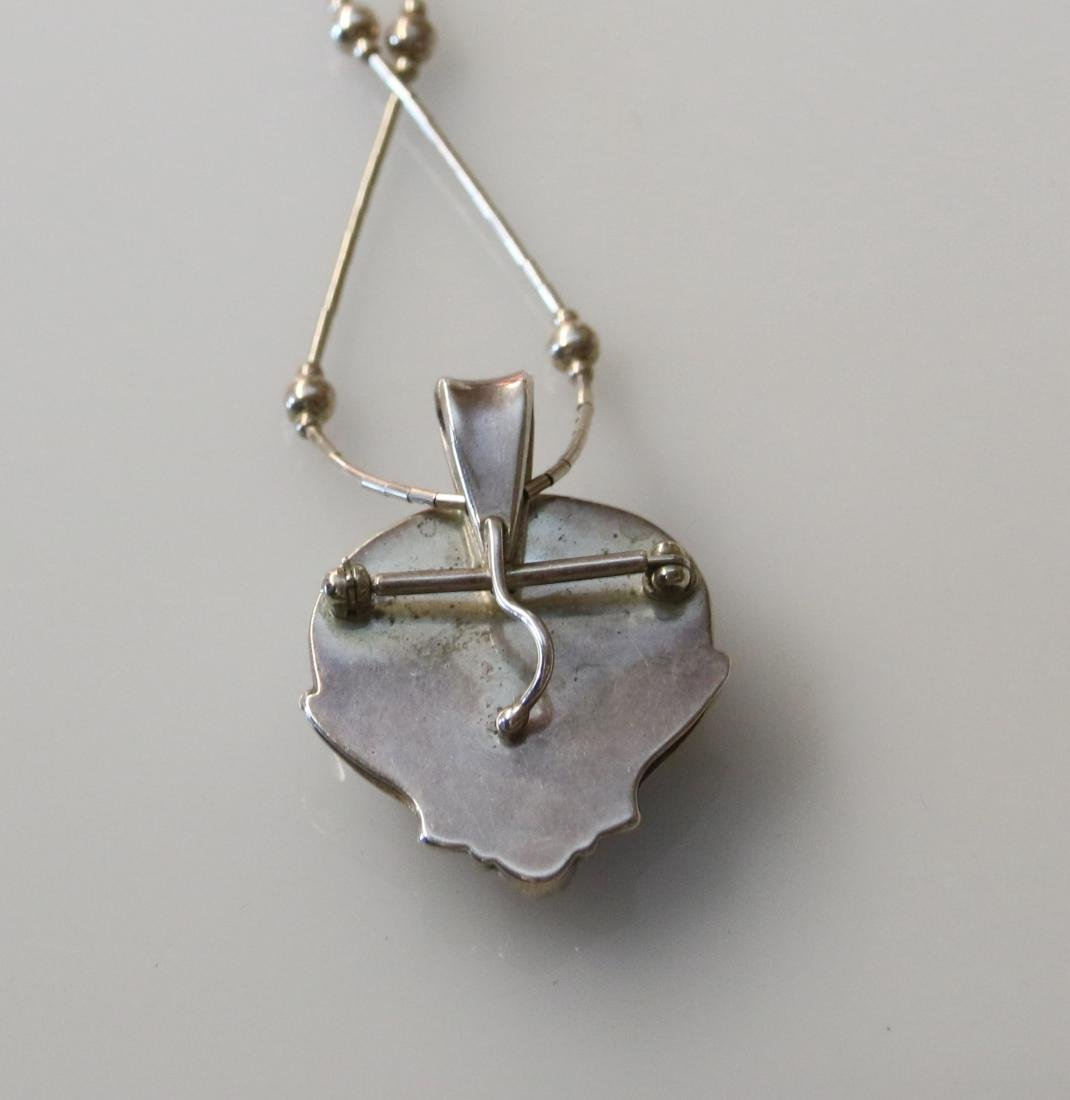 STERLING PENDANT AND CHAIN - 2