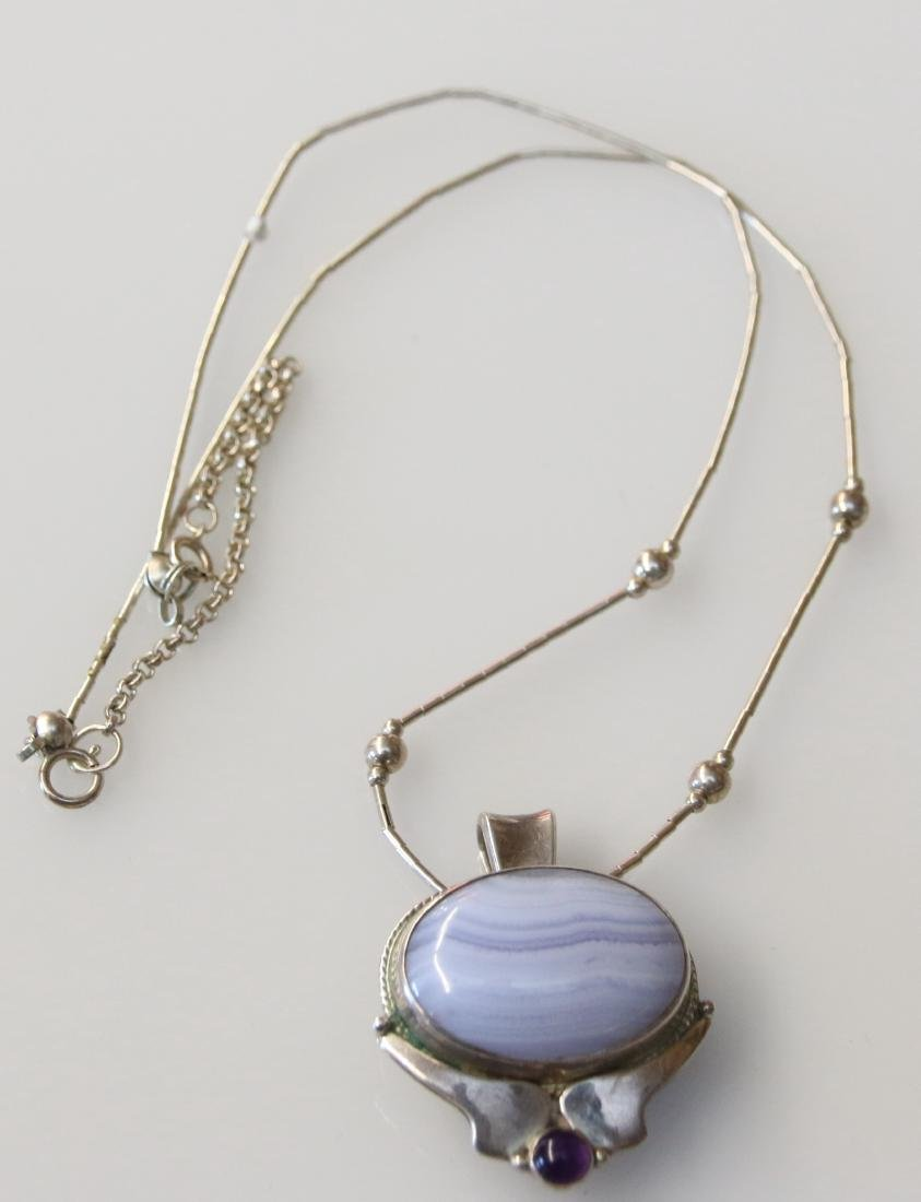 STERLING PENDANT AND CHAIN - 3