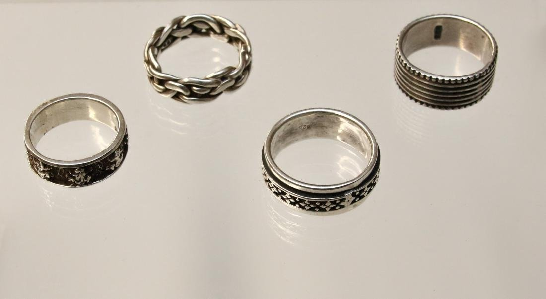 4 - STERLING RINGS
