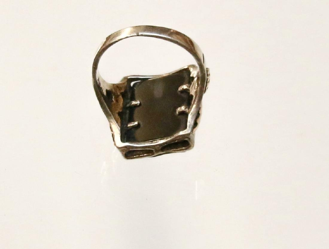 STERLING AND BLACK HILLS GOLD RING - 4