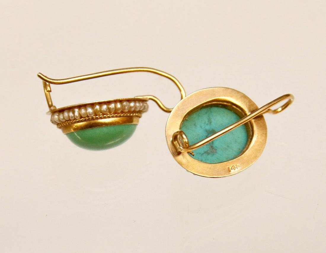 14K GOLD PERSIAN AND TURQUOISE - 2