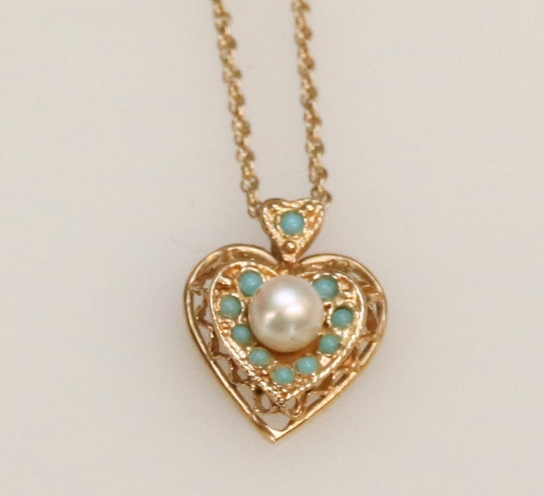 14K GOLD PENDANT AND CHAIN