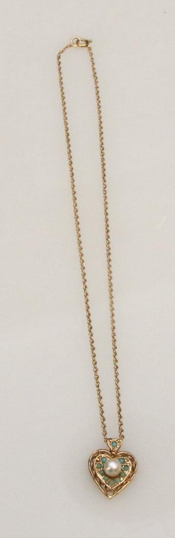 14K GOLD PENDANT AND CHAIN - 2