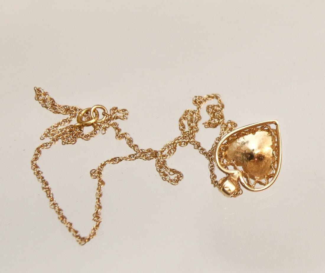 14K GOLD PENDANT AND CHAIN - 3