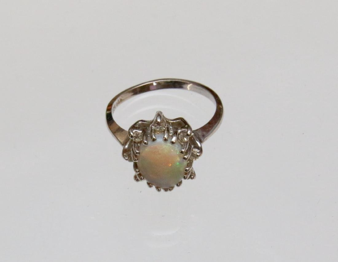14K GOLD RING AND OPAL