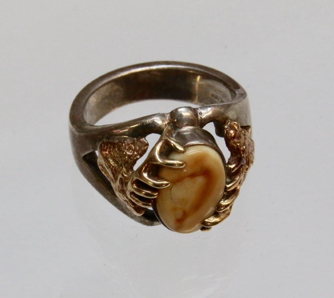 GOLD AND SILVER MEN'S RING
