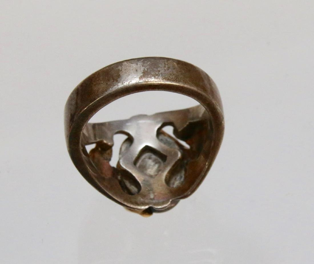 GOLD AND SILVER MEN'S RING - 3