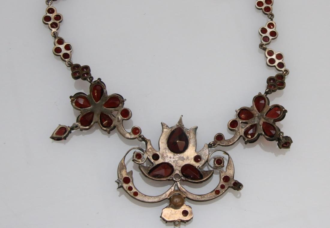 VINTAGE GARNET NECKLACE - 2