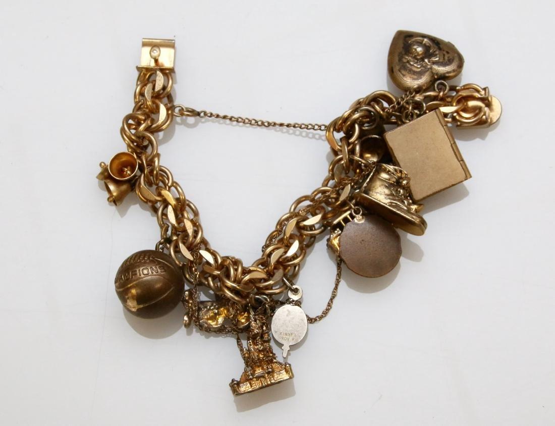 GOLD FILLED CHARM BRACELET
