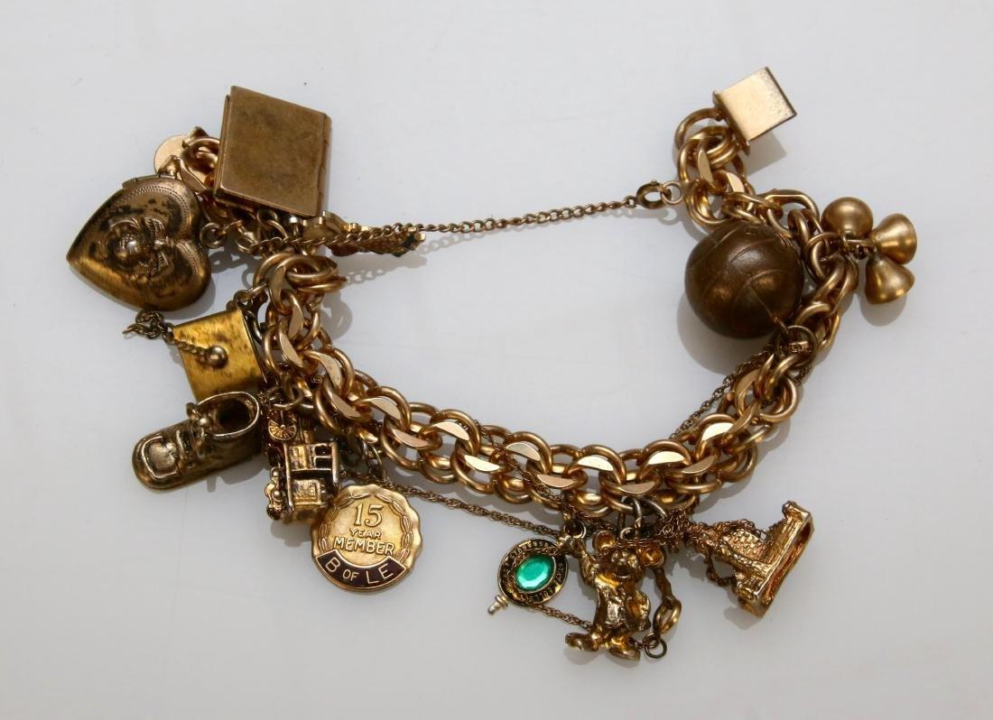 GOLD FILLED CHARM BRACELET - 2