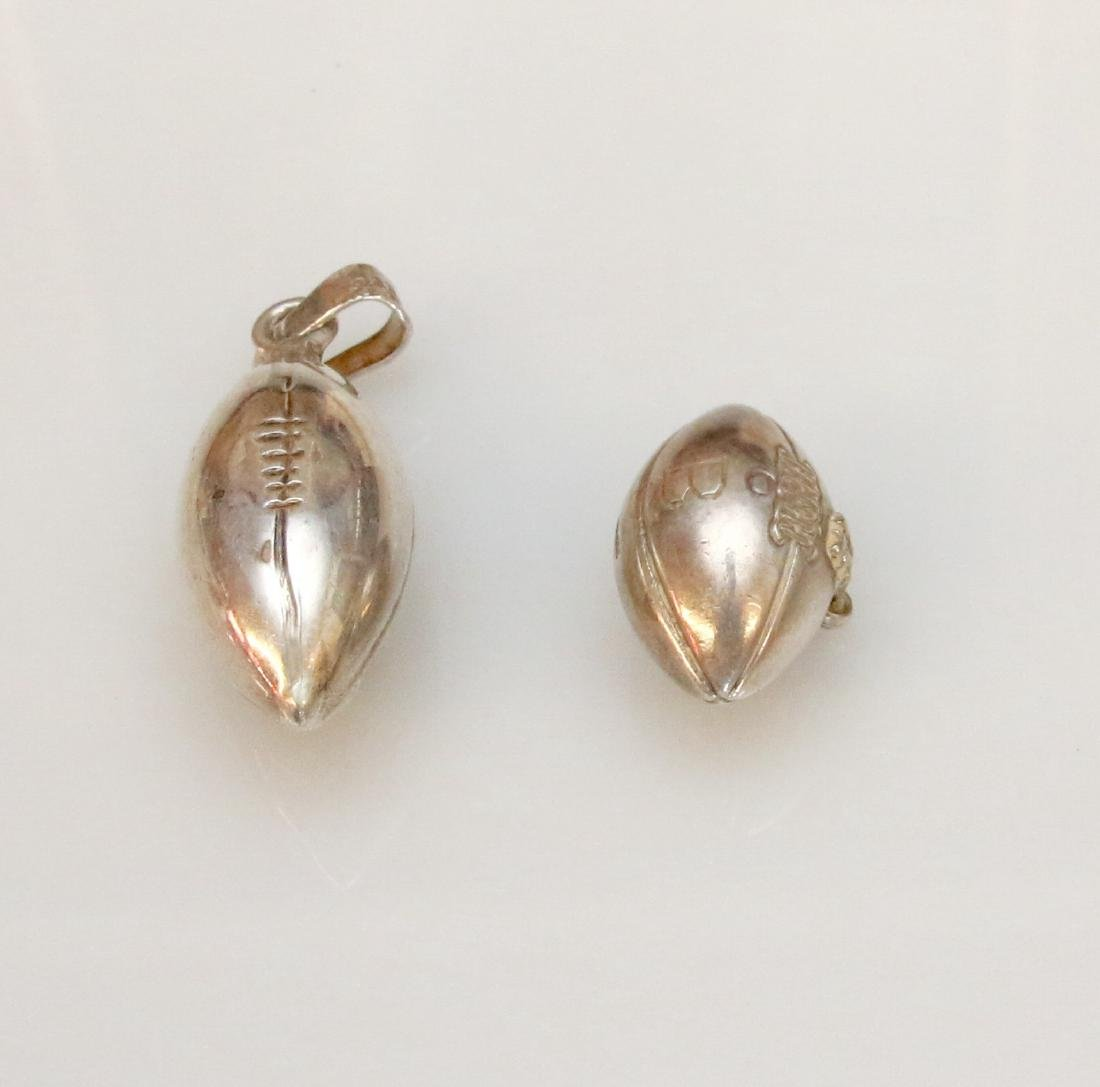 2 - STERLING FOOTBALL CHARMS