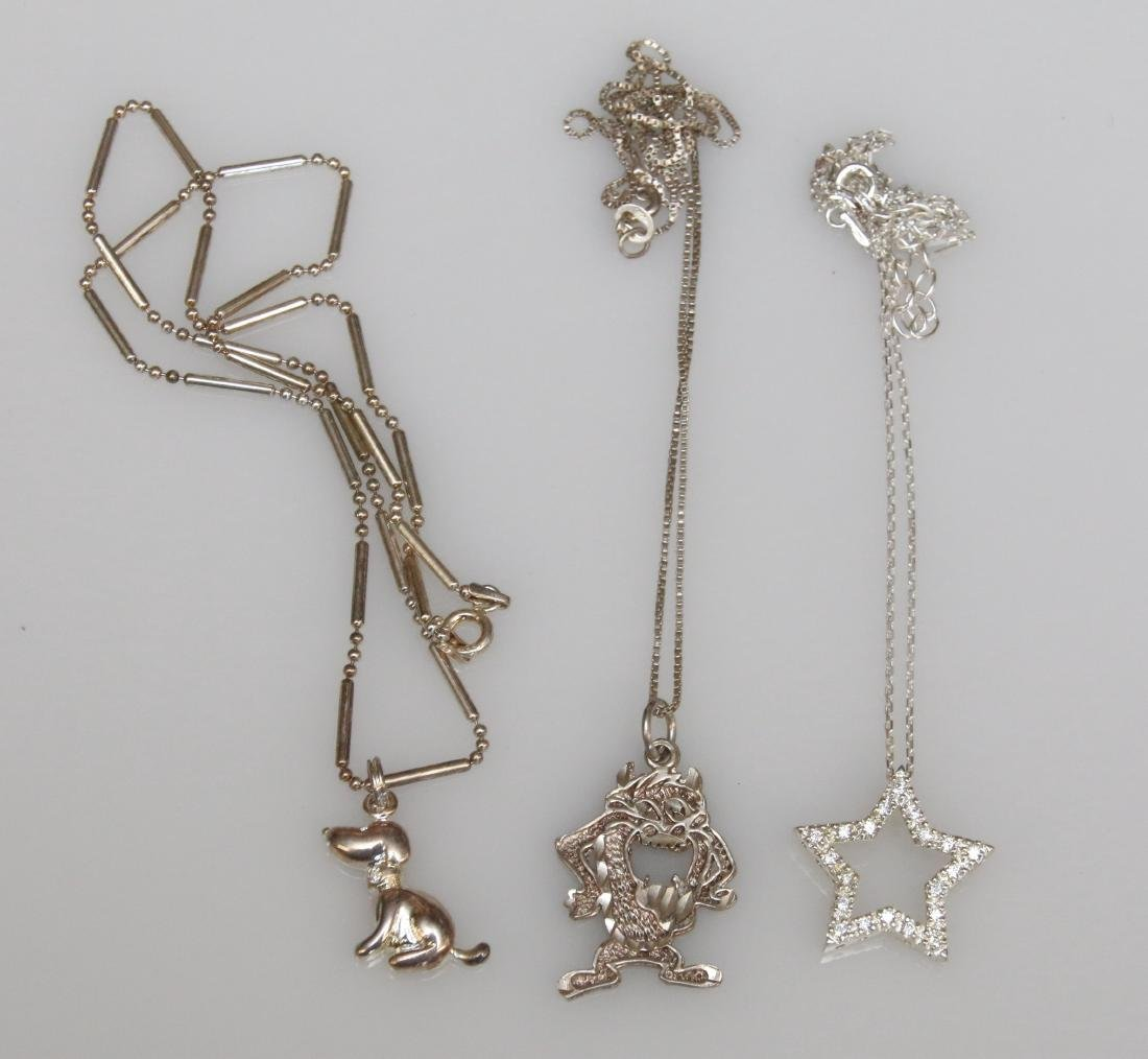 3- STERLING NECKLACES