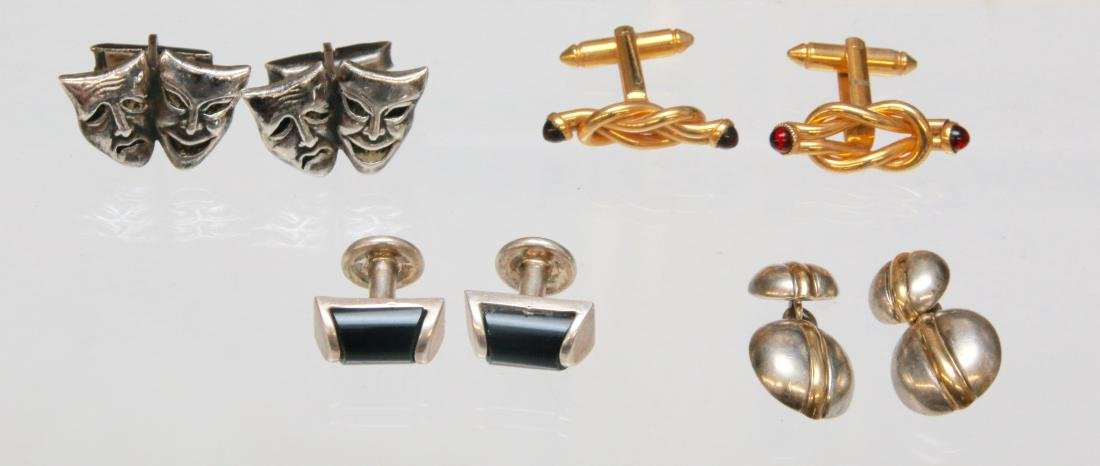 4- PAIR OF MEN'S CUFF LINKS