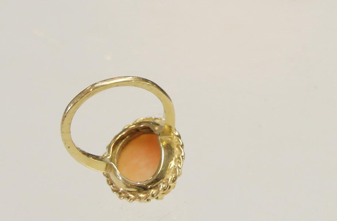 14K GOLD CAMEO RING - 2
