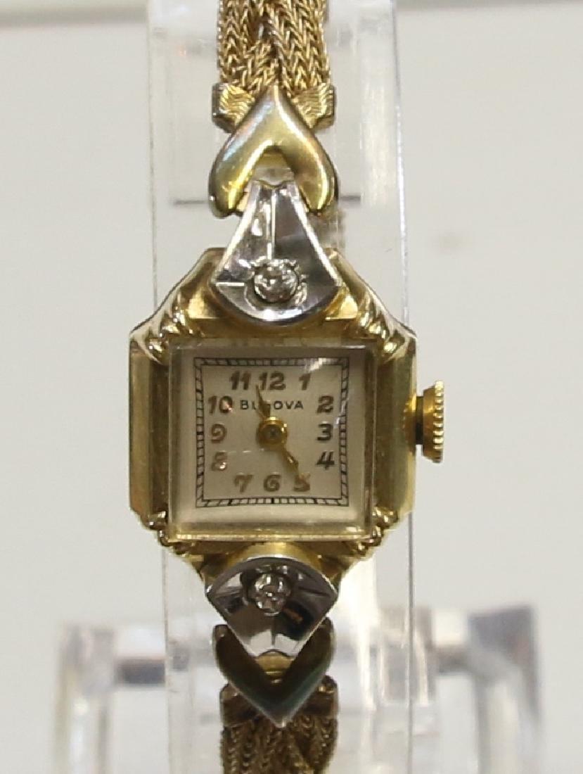 14K GOLD BULOVA WATCH - 2